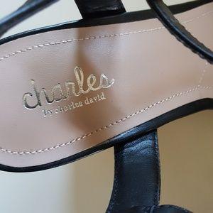 Charles David Shoes - NWT CHARLES DAVID BLACK WEDGE SANDALS